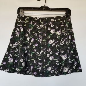 American eagle floral button front mini skirt